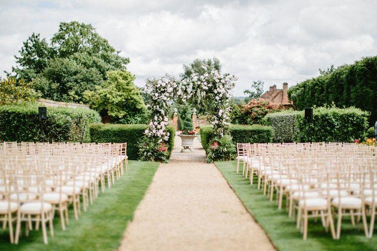 Floral Arch Wedding Ceremony