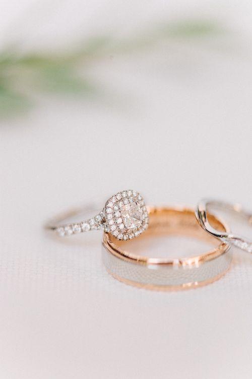 Engagement Ring & Wedding Bands