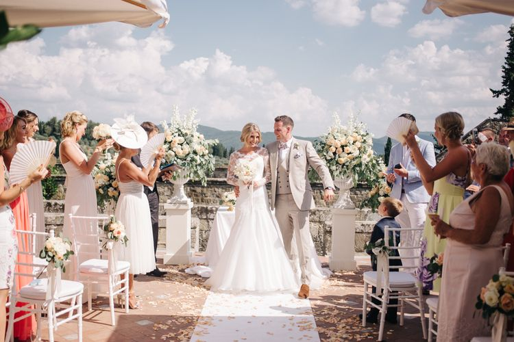 Outdoor Wedding Ceremony   Married