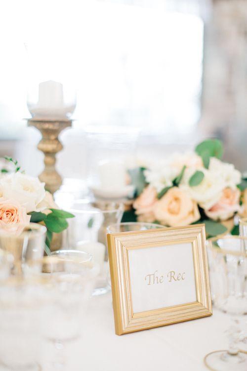 Peach & Gold Wedding Decor