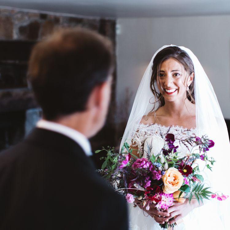 Bride Getting Ready Pronovias Gown
