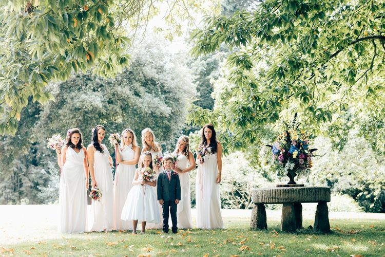 Wedding Party In Light Colours