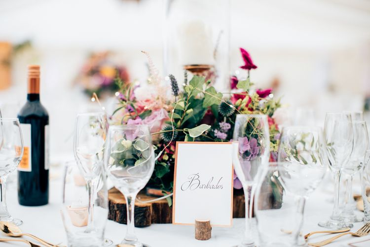 Floral Centrepieces Marquee Wedding