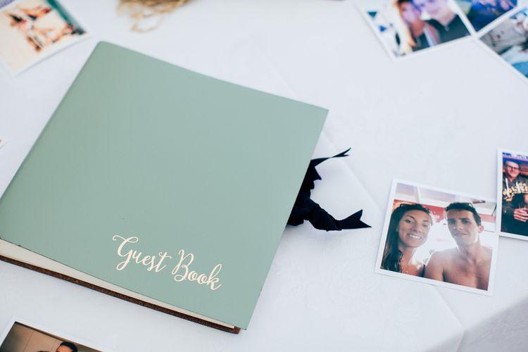 Mint Green Guest Book