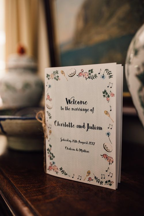 Hand Painted Wedding Stationery | Outdoor Destination Wedding at Château De Malliac Planned by Country Weddings in France | Styling by The Hand-Painted Bride | Samuel Docker Photography | Marriage in Motion Films