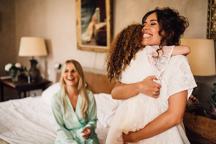 Bridal Party Wedding Morning Preparations | Outdoor Destination Wedding at Château De Malliac Planned by Country Weddings in France | Styling by The Hand-Painted Bride | Samuel Docker Photography | Marriage in Motion Films