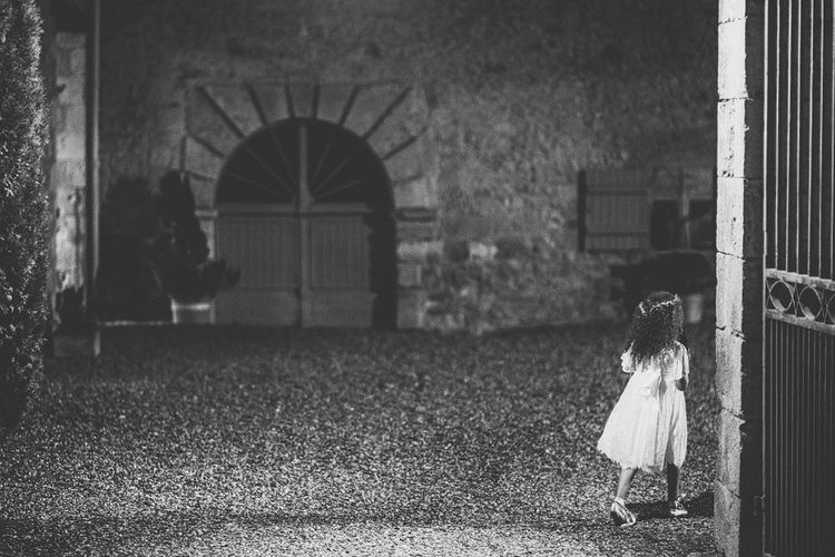 Flower Girl in Monsoon Dress | Outdoor Destination Wedding at Château De Malliac Planned by Country Weddings in France | Styling by The Hand-Painted Bride | Samuel Docker Photography | Marriage in Motion Films