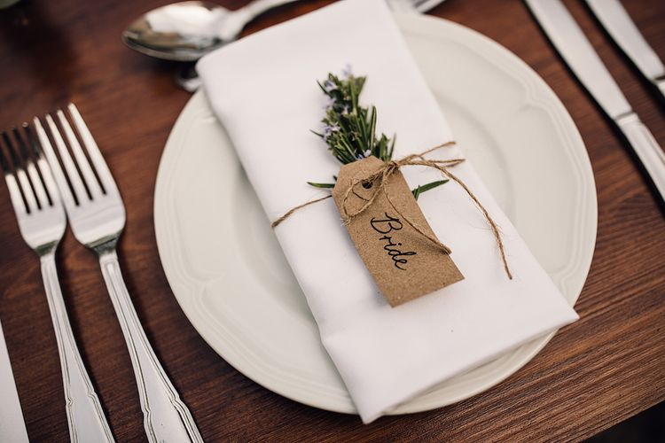 Place Setting | Outdoor Destination Wedding at Château De Malliac Planned by Country Weddings in France | Styling by The Hand-Painted Bride | Samuel Docker Photography | Marriage in Motion Films