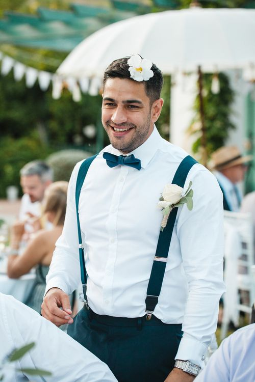 Groom n Herr von eden Tuxed, Bow Tie & Braces   Planned by Rachel Rose Weddings   Radka Horvath Photography