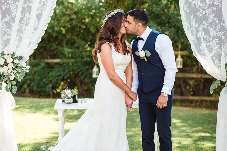 Outdoor Ceremony   Bride in Sottero & Midgley Bridal Gown   Groom n Herr von eden Tuxed, Bow Tie & Waistcoat   Planned by Rachel Rose Weddings   Radka Horvath Photography