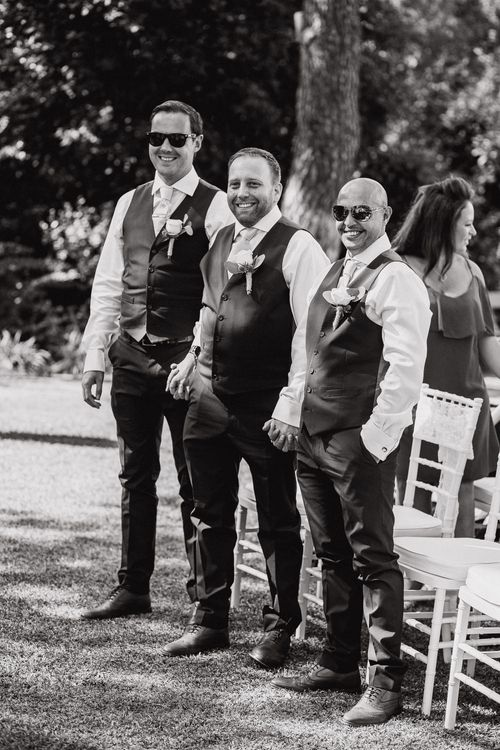 Outdoor Ceremony   Groomsmen in Marks and Spencer Suits   Planned by Rachel Rose Weddings   Radka Horvath Photography