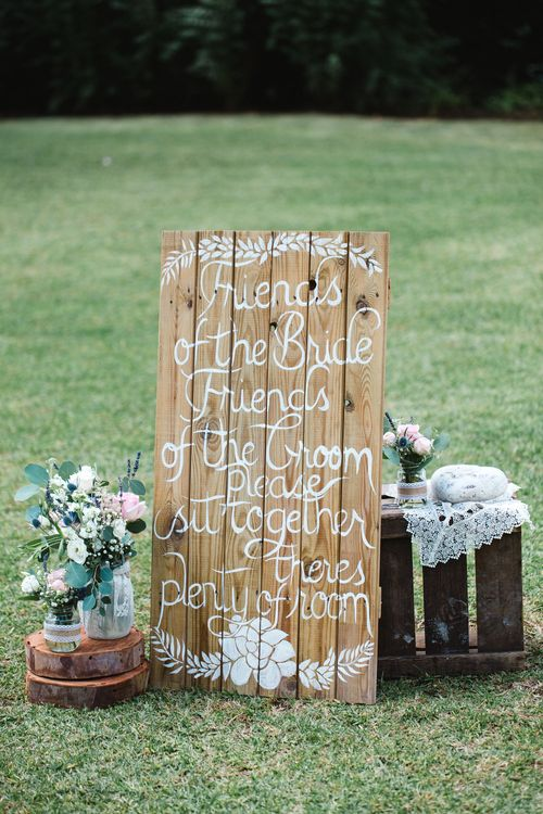 Aisle Wooden Sign   Planned by Rachel Rose Weddings   Radka Horvath Photography