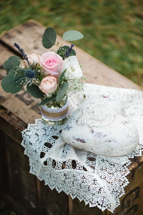 Crates, Lace & Flowers in Jars   Planned by Rachel Rose Weddings   Radka Horvath Photography