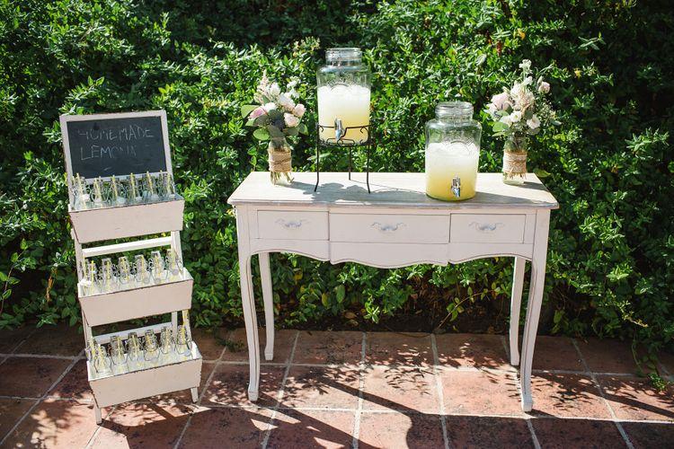 Vintage Dresser Lemonade Stand   Drinks Dispenser   Planned by Rachel Rose Weddings   Radka Horvath Photography