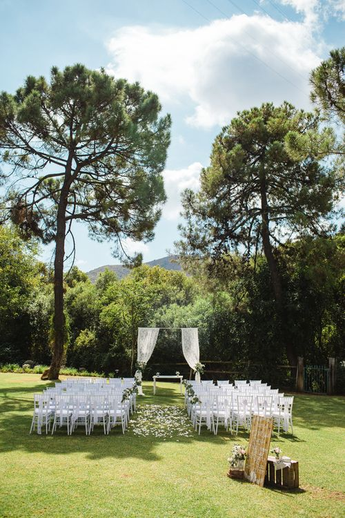 Outdoor Wedding Ceremony   Planned by Rachel Rose Weddings   Radka Horvath Photography