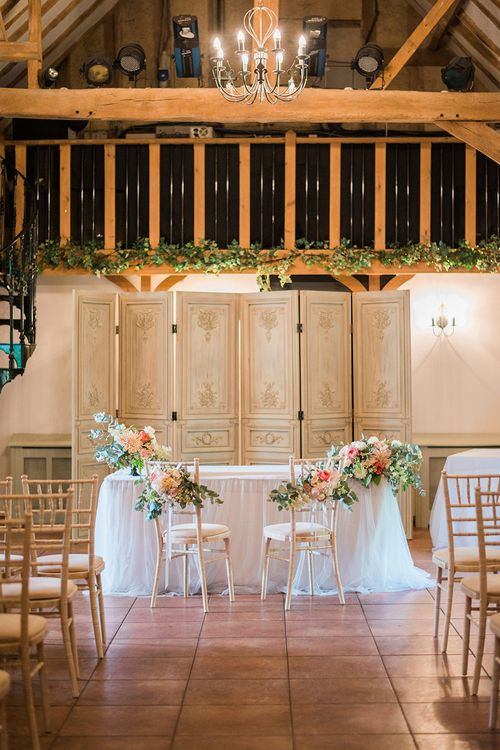 Aisle & Altar | Wedding Ceremony | Pink & Coral Country Wedding at Crabbs Barn, Essex | Kathryn Hopkins Photography | Film by Colbridge Media Services Ltd