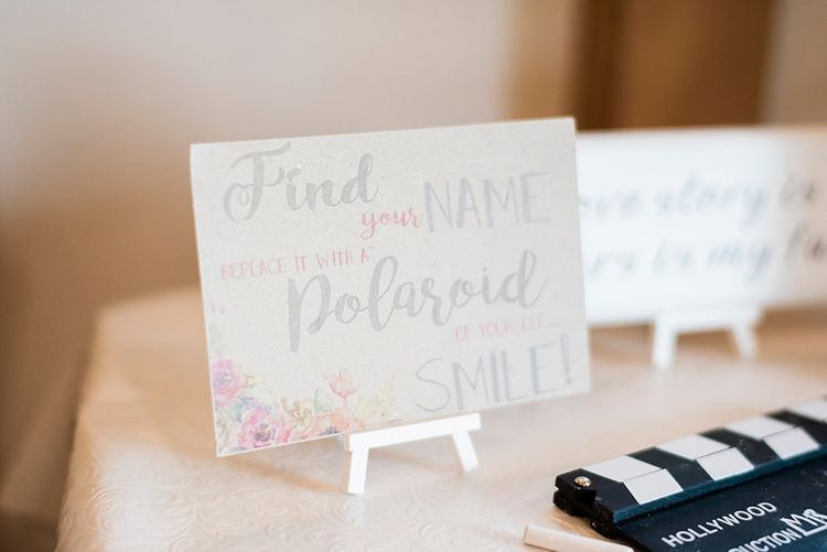 Kraft Paper Wedding Stationery | Romantic Peach & Coral Floral Centrepiece | Peach & Coral Country Wedding at Crabbs Barn, Essex | Kathryn Hopkins Photography | Film by Colbridge Media Services Ltd