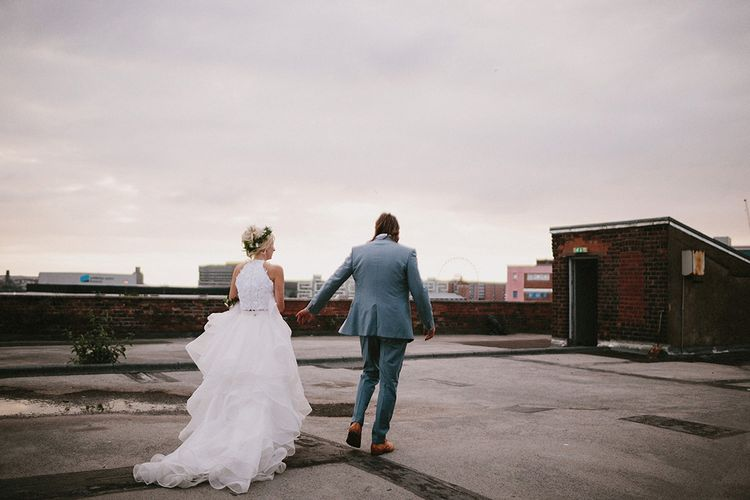 Rooftop Bride & Groom Shots At Camp & Furnace