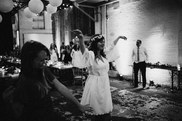 Wedding Reception Dancing At Camp & Furnace