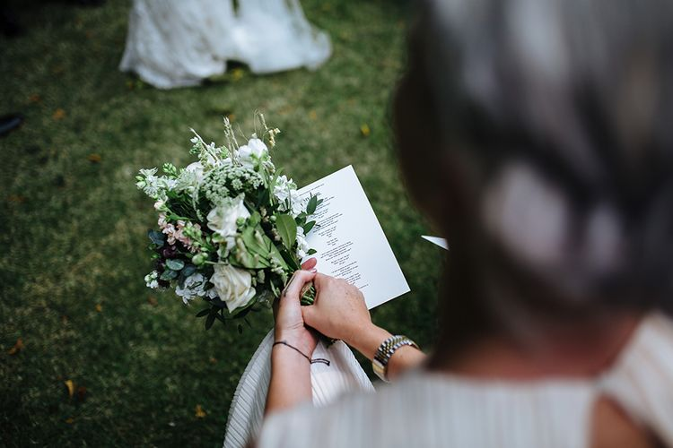 Outdoor Wedding Ceremony at Childerley Hall | Bouquet | Tawny Photo