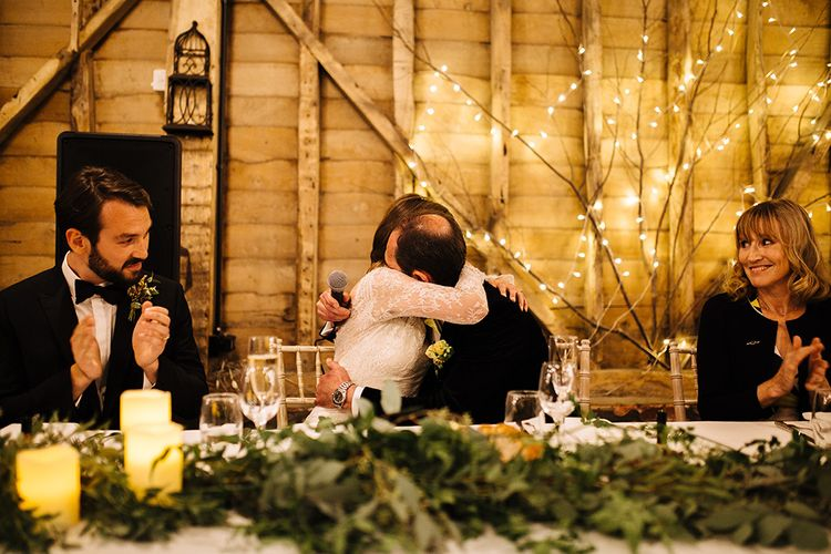 Wedding Speeches at Childerley Hall Rustic Barn Reception in Cambridge | Tawny Photo