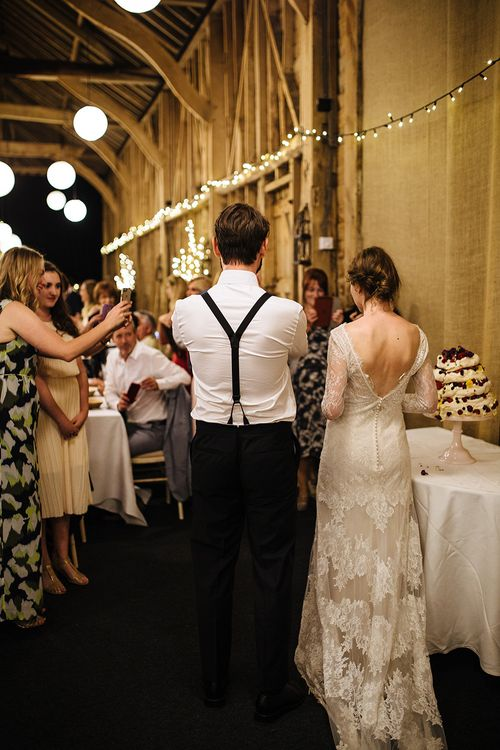 Cutting the Cake | Bride in Sottero & Midgley Lace Gown | Tawny Photo