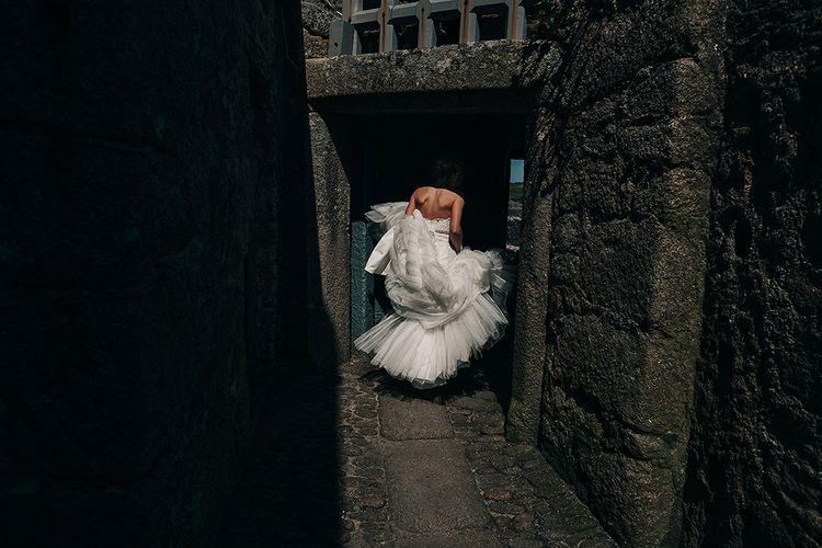 Bride in Pronovias Wedding Dress   Isles of Scilly Wedding   Jason Mark Harris Photography
