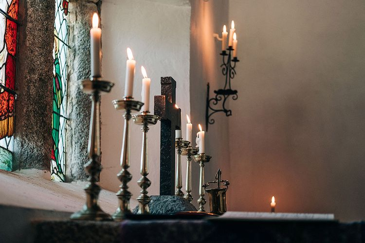 Church Candles   Isles of Scilly Wedding   Jason Mark Harris Photography