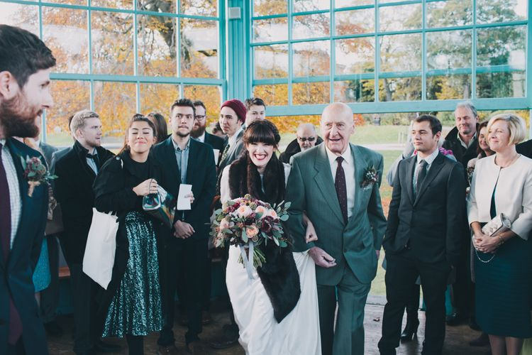 Granddad Walking Bride Down The Aisle