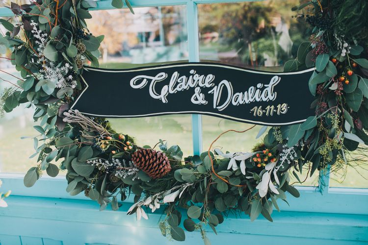 Autumnal Wedding Wreathe by Swallows & Damsons