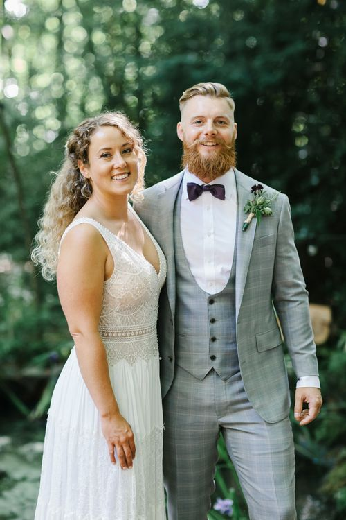 Outdoor Wedding UK At Woodland Weddings With Bridesmaids In Blush Pink TH&TH Dresses With Images From Chris Barber Photography