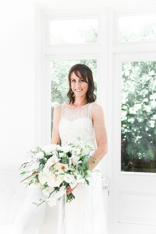 Bride in Hermia Jenny Packham Gown | Elegant Hampton Manor Wedding with Floral Decor | Xander & Thea Fine Art Wedding Photography