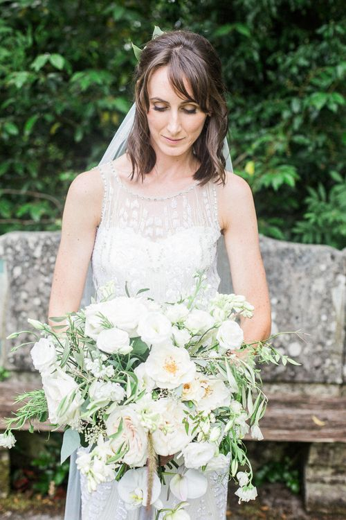 Bride in Jenny Packham | Elegant Hampton Manor Wedding with Floral Decor | Xander & Thea Fine Art Wedding Photography