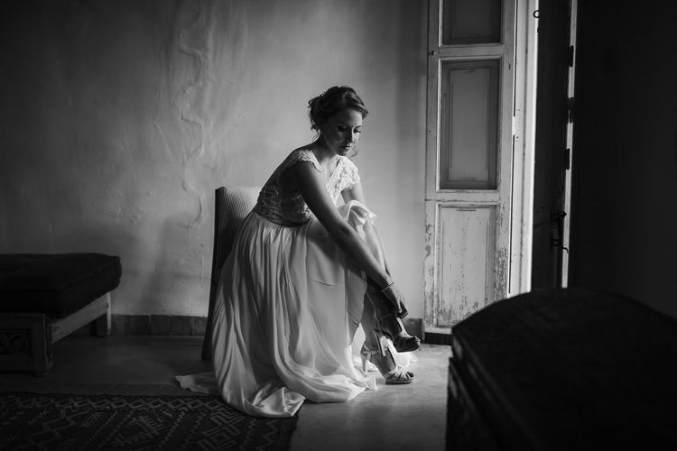 Bride in Celestina Agostino Wedding Dress   Beldi Hotel, Marrakech Destination Wedding   Lifestories Wedding Photography