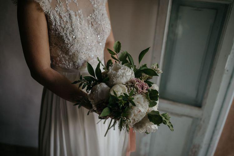 Bouquet   Bride in Celestina Agostino Wedding Dress   Beldi Hotel, Marrakech Destination Wedding   Lifestories Wedding Photography