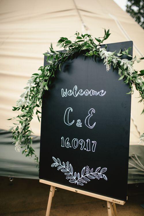 Wedding signage | Kat Hill Wedding Photography