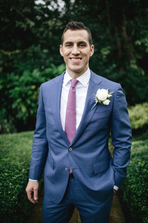 Groom wears Suit Supply and Hermes Tie | | Kat Hill Wedding Photography