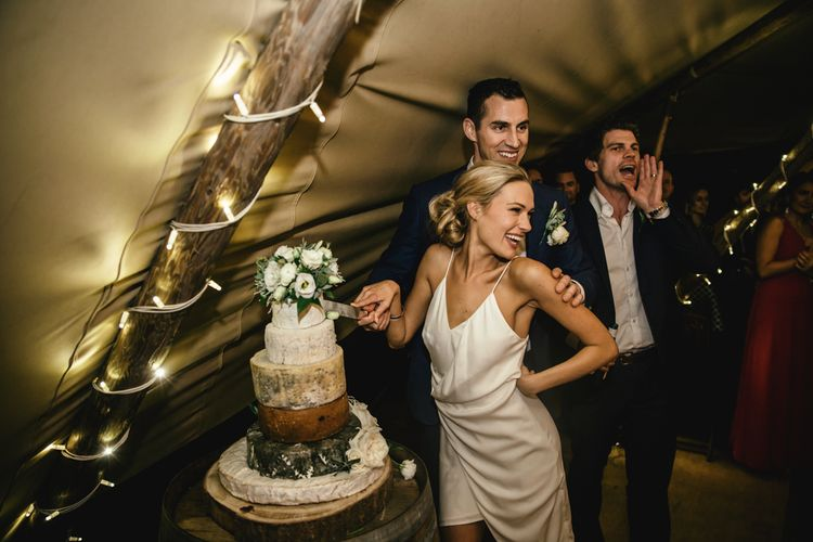 Cutting the (cheese)cake | Kat Hill Wedding Photography