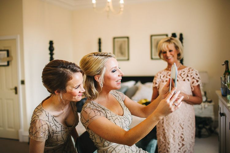 Bridesmaids in Sequin Adrianna Papell Dress | S6 Photography