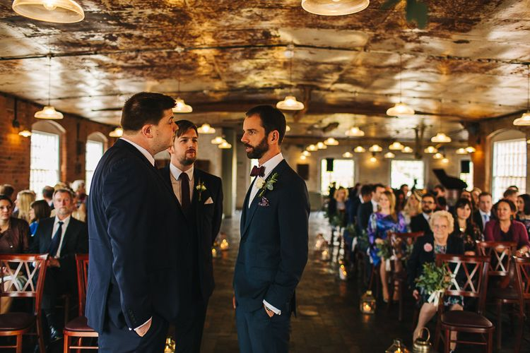 Industrial Wedding Ceremony at The West Mill | S6 Photography