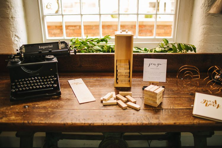 Jenga Guest Book | Wedding Decor | S6 Photography