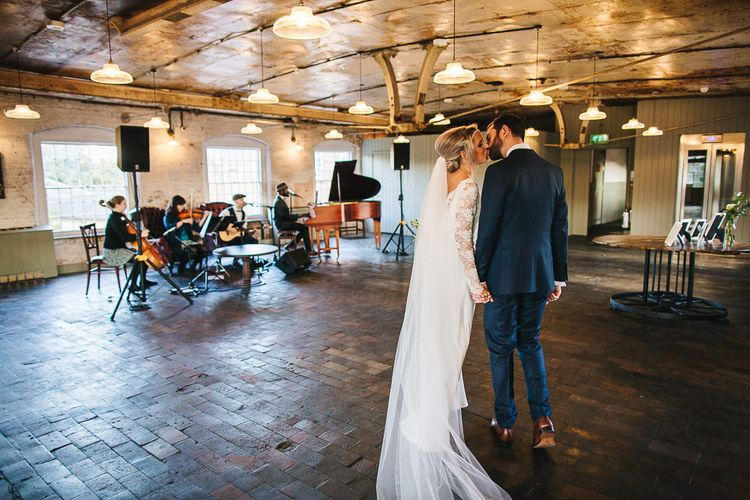 Bride in Charlie Brear | Industrial Wedding at The West Mill | S6 Photography