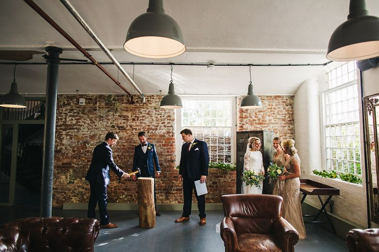 The West Mill Industrial Wedding Venue | Wedding Party | S6 Photography