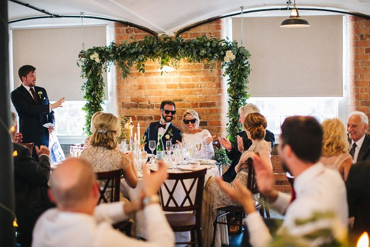 Wedding Speeches | The West Mill Industrial Wedding Venue | S6 Photography