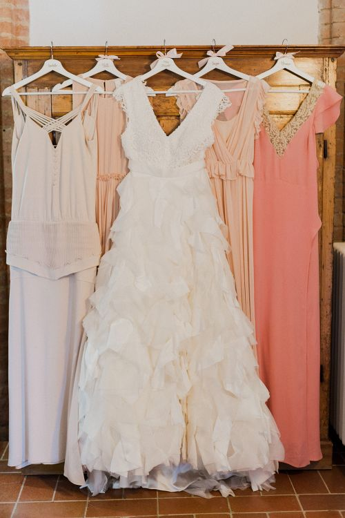 Bridal Party Fashion | Intimate Destination, Family Wedding Planned by The Knot in Italy Weddings at Castello Il Palagio , Italy | Linda Nari Photography
