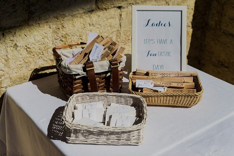 Fan Wedding Favours | Intimate Destination, Family Wedding Planned by The Knot in Italy Weddings at Castello Il Palagio , Italy | Linda Nari Photography