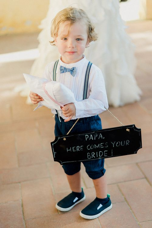Page Boy in Bow Tie, Shorts & Braces | Linda Nari Photography