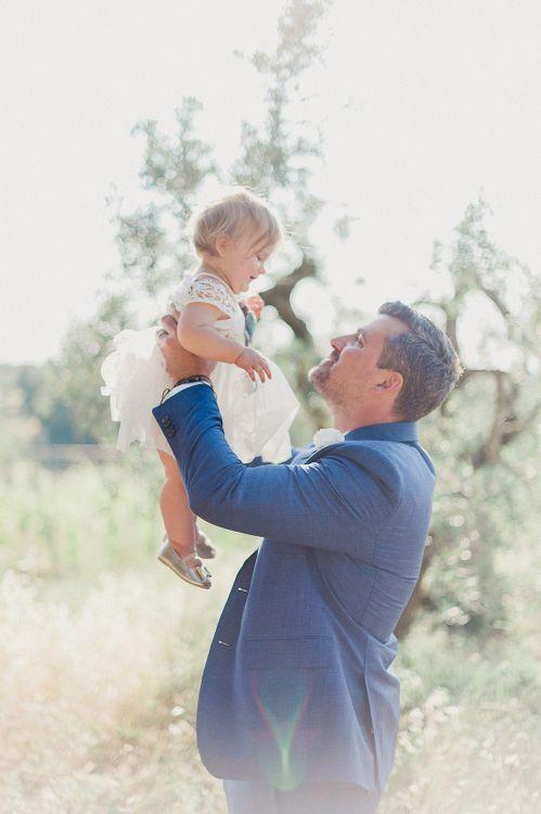 Father & Daughter | Groom in Light Blue Baldessarini Suit | Linda Nari Photography