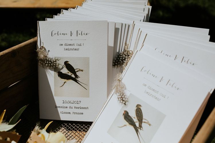 Wedding Stationery | Chic Rustic French Wedding at Le Morimont Styled by Féelicité | Photography by Chloe