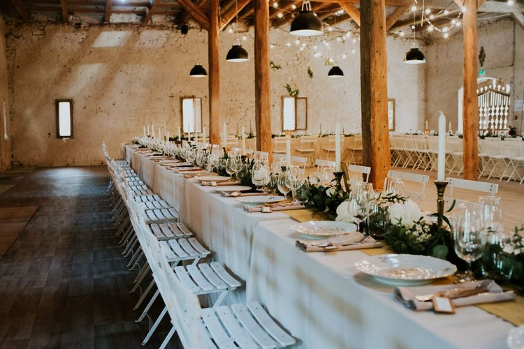 Rustic Tablescape | Chic Rustic French Wedding at Le Morimont Styled by Féelicité | Photography by Chloe